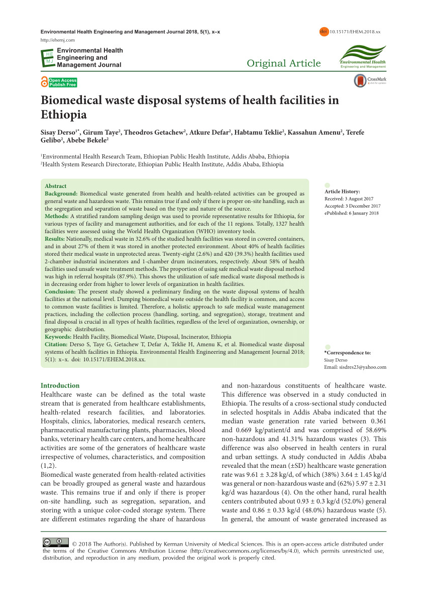 pdf assessment of small scale incinerators for health care waste