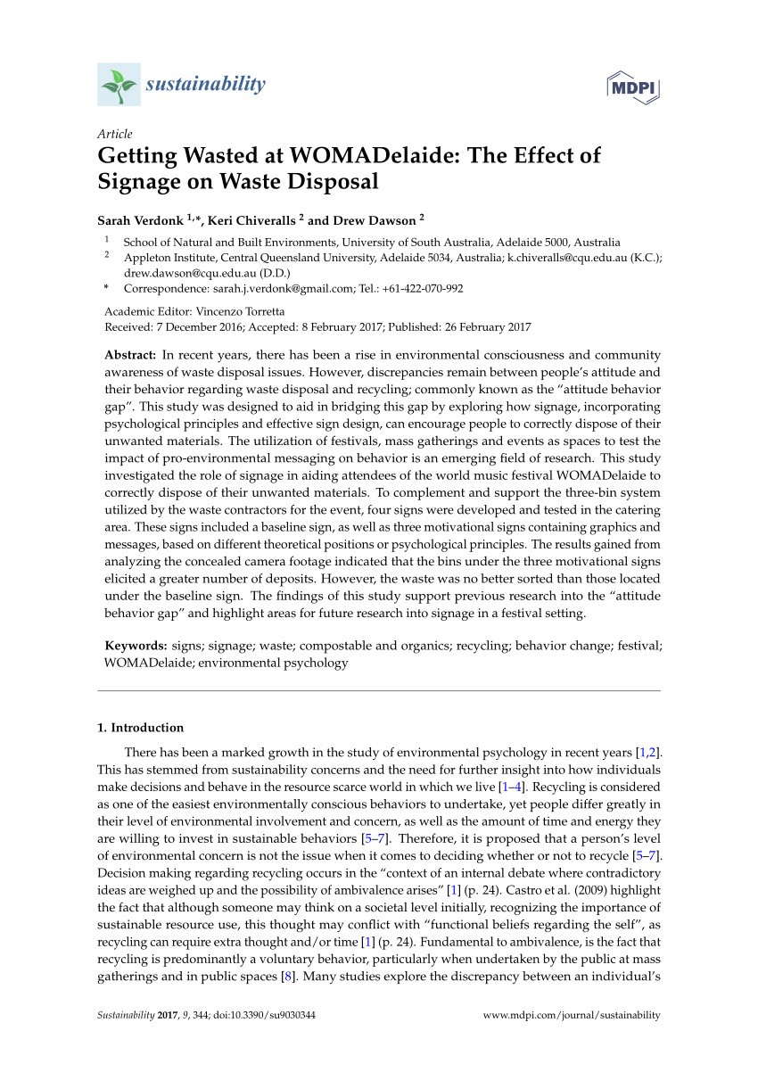 pdf using green is to encourage recycling behavior