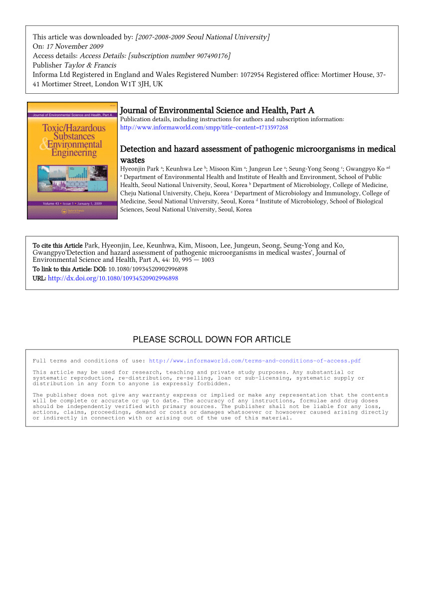 Waste Management Navarre Florida Pdf Treatment Of Clinical solid Waste Using A Steam Autoclave as A