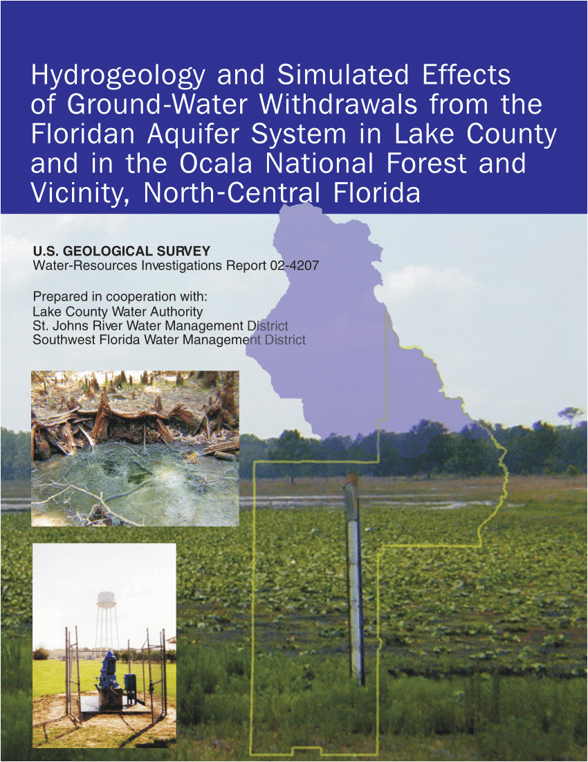pdf hydrogeology and simulated effects of ground water withdrawals from the floridan aquifer system in lake county and in the ocala national forest and