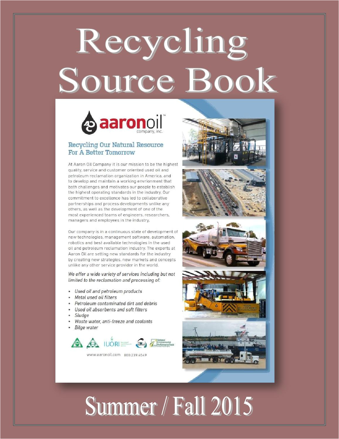 Waste Oil Disposal Eau Claire Wi Recycling source Book by Federal Buyers Guide Inc issuu