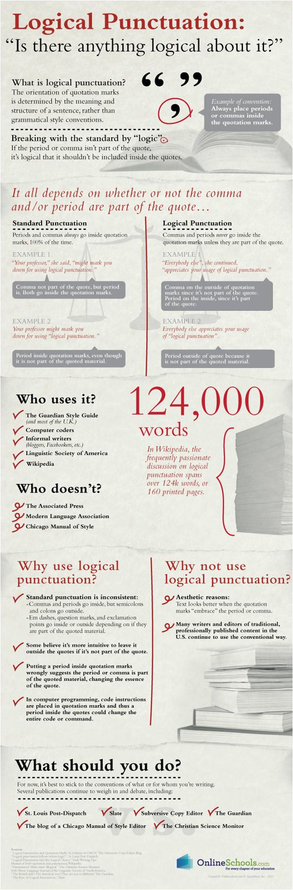 logical punctuation the meaning and structure of a sentence to determine the placement of a