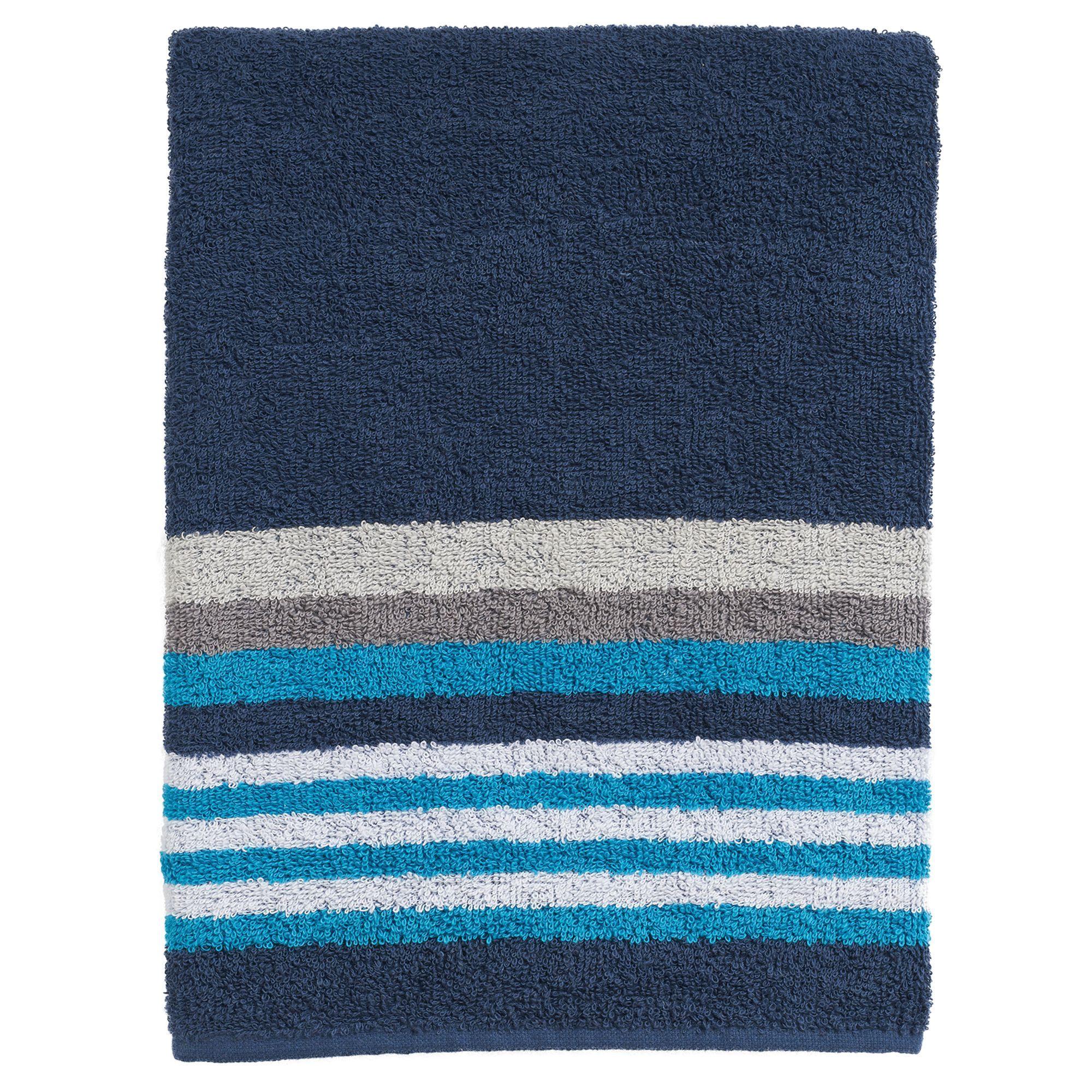 the big onea a stripe bath towel blue navy