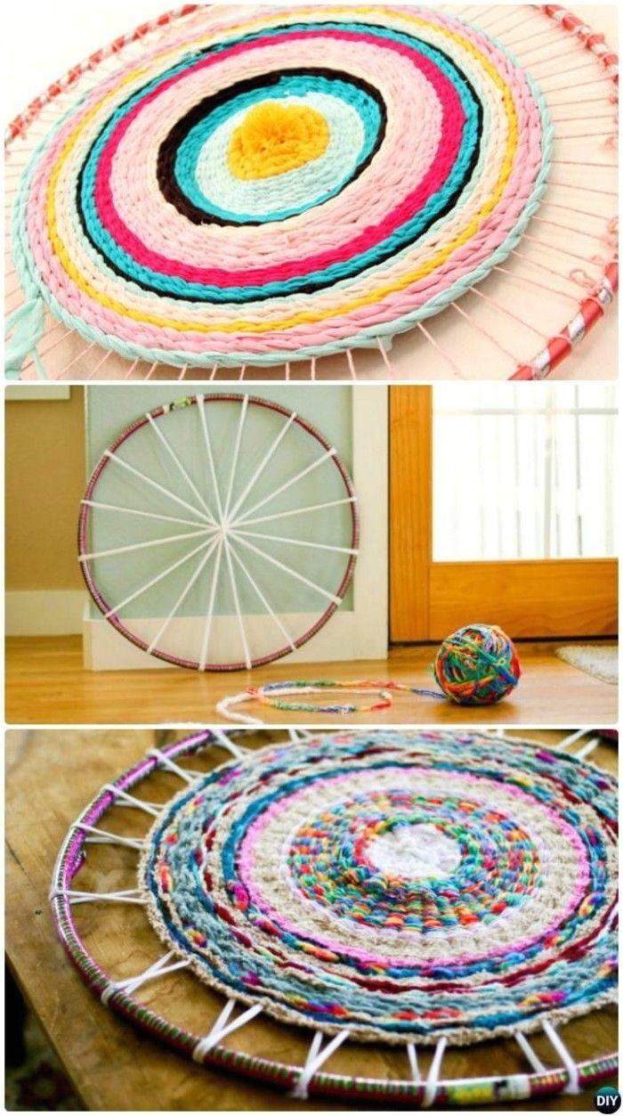 hula hoop reifen teppich knupfen hula hoop rug hula hoop weaving hula hoop reifen
