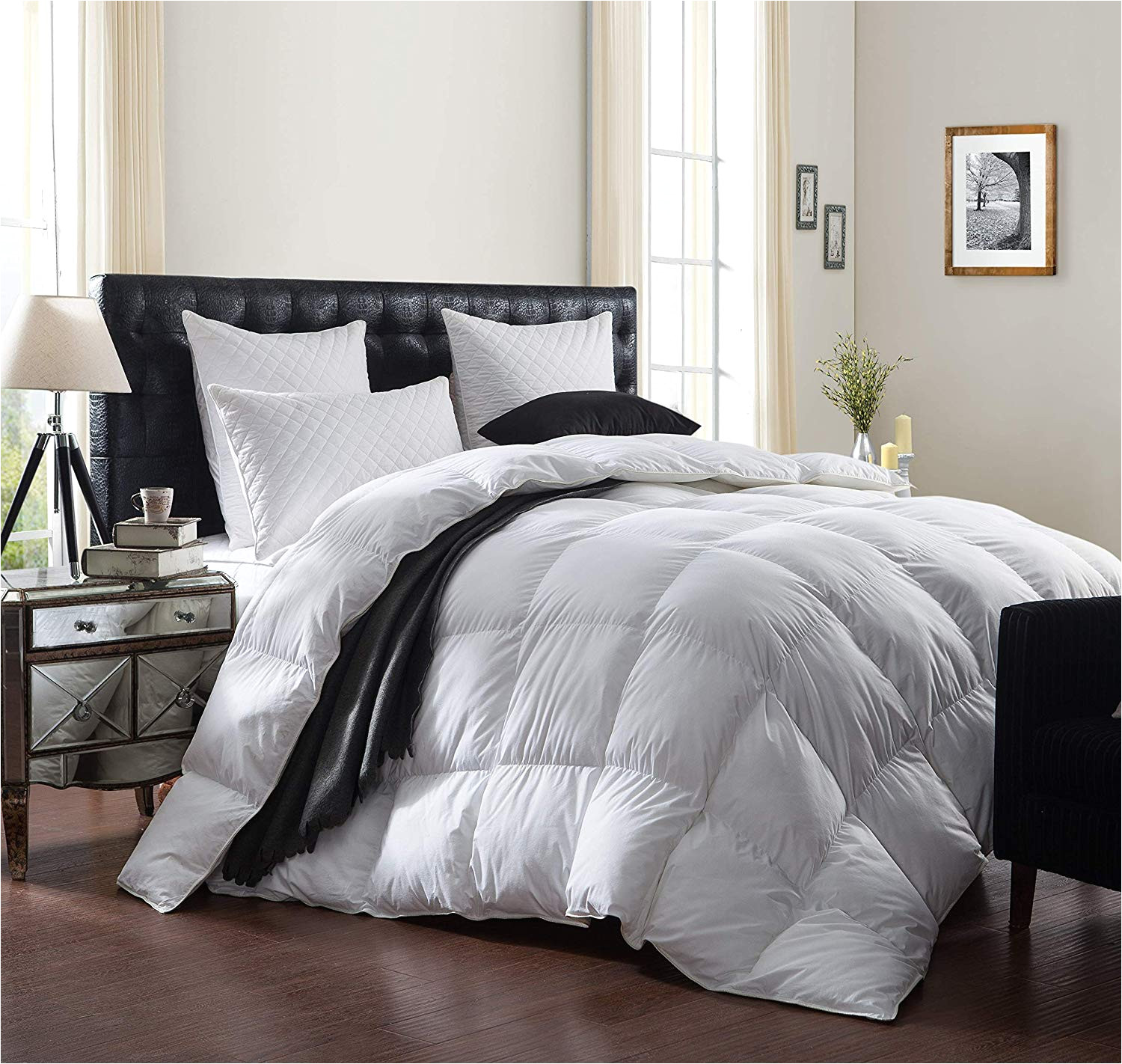 amazon com luxurious 1200 thread count goose down comforter duvet insert king size 1200tc 100 egyptian cotton cover 750 fill power