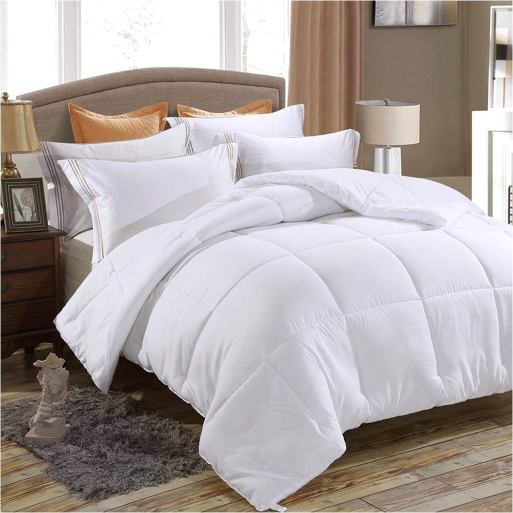 down alternative comforter duvet insert medium weight for all season fluffy warm soft hypoallergenic
