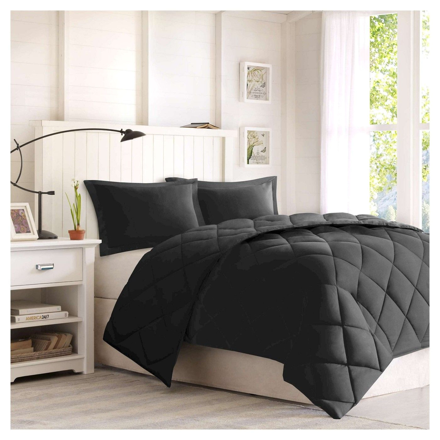 windsor reversible microfiber down alternative comforter set w 3m stain resistance finishing image 1 of 2