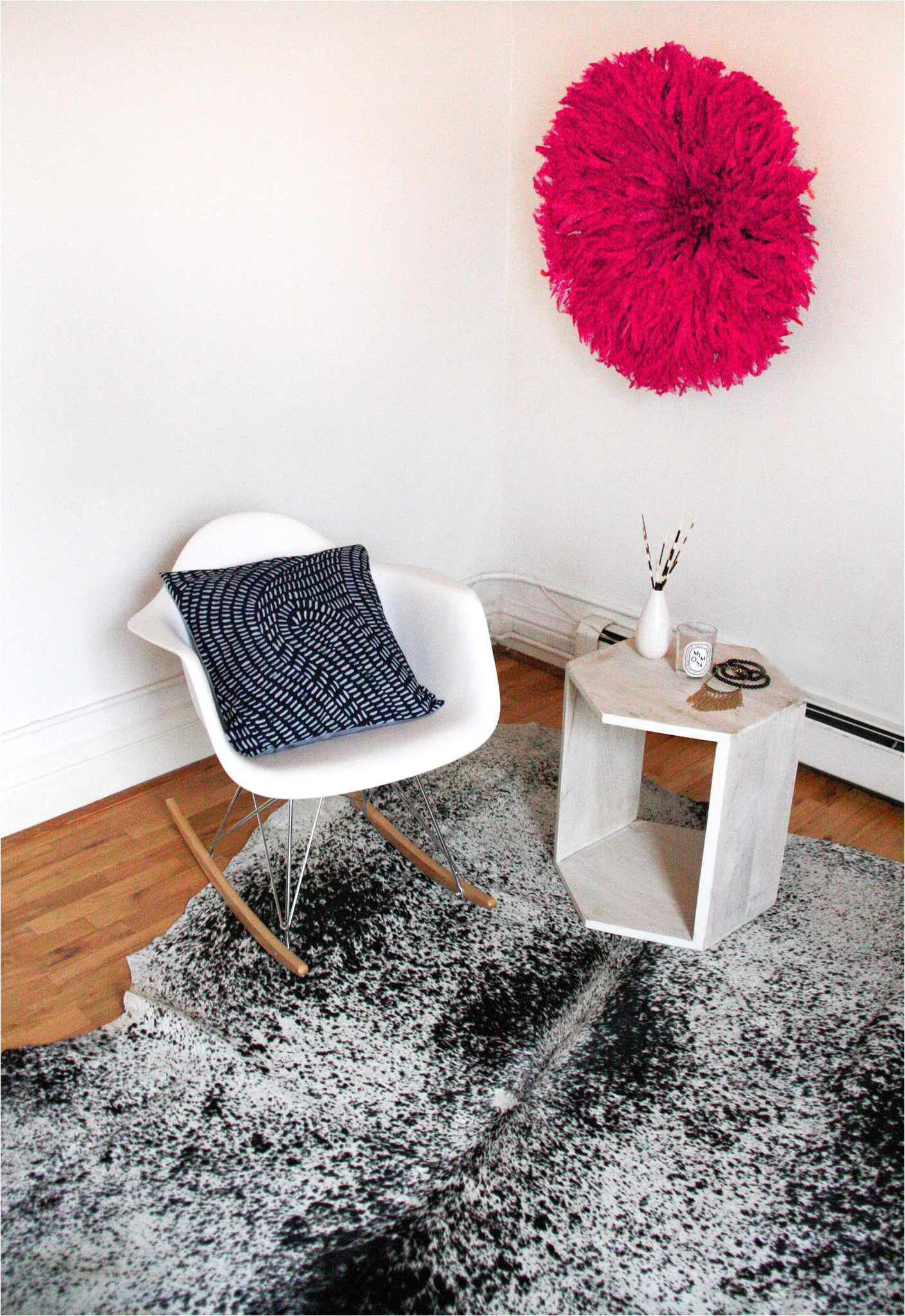 south african nguni cowhide rug white with black speckles extra large