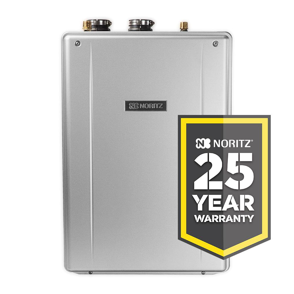 noritz 11 1 gpm ez series natural gas hi efficiency indoor outdoor tankless water heater