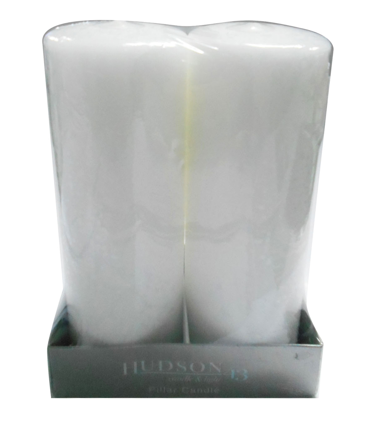 hudson 43 candle light collection 2 pack 3x8 od pillar unscented white