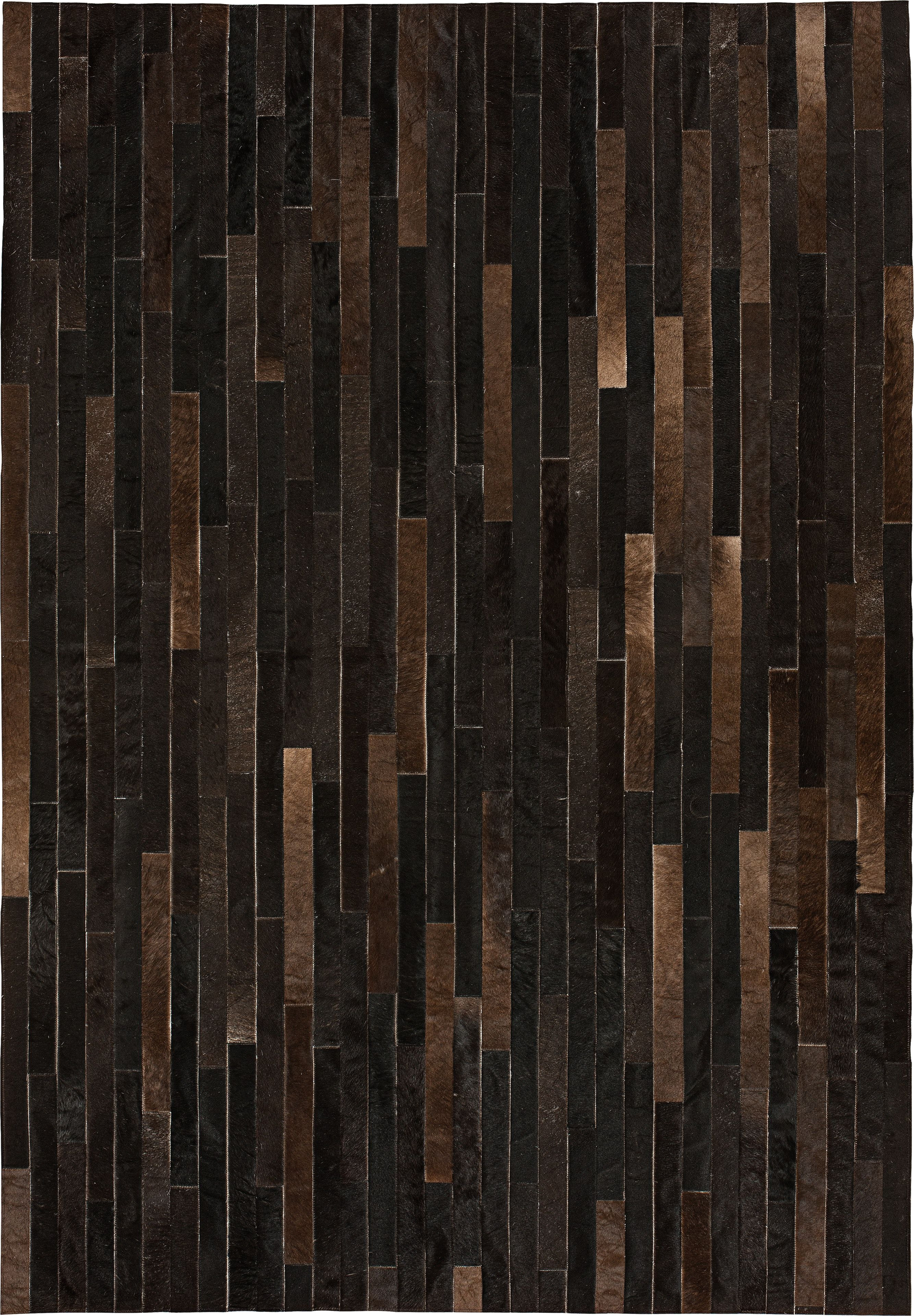 buy caminito patchwork cowhide rug umber by pampas leather made to order designer rugs from dering hall s collection of contemporary geometric stripe