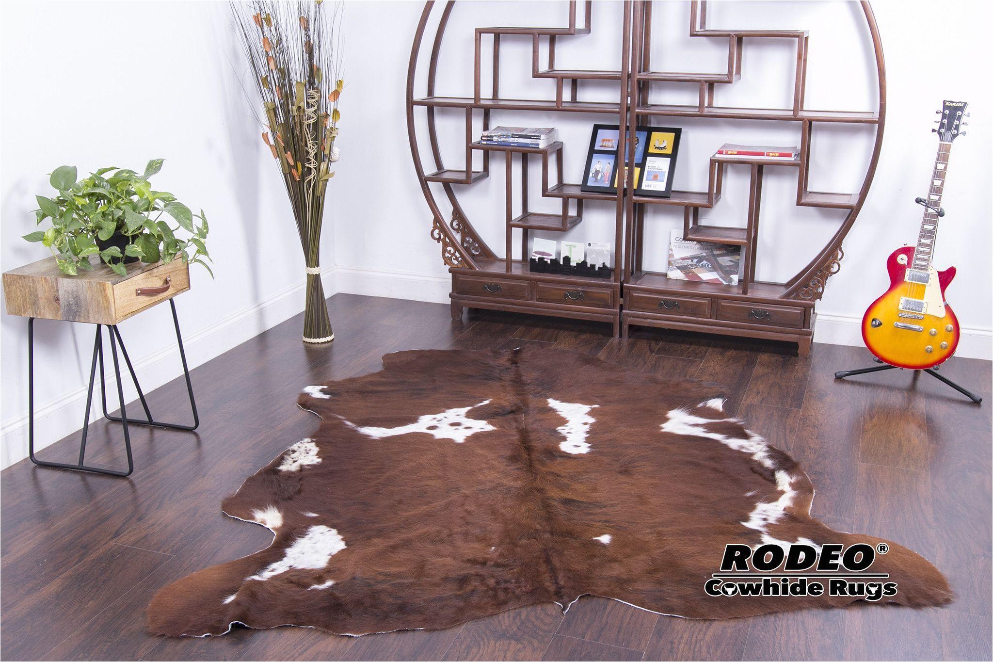 new large long hair brown cowhide rugs area rugs cow skin hide 6 8x6 4 1176
