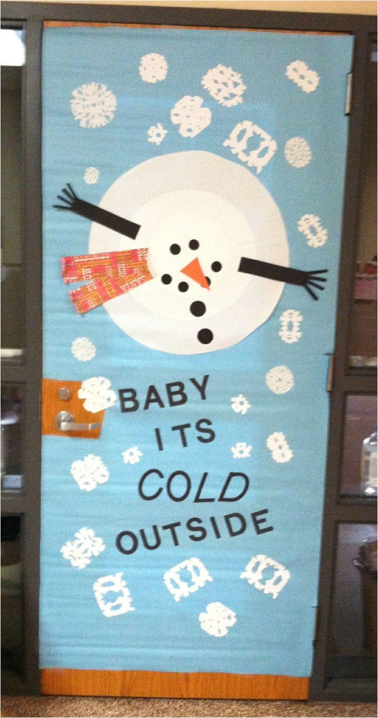 winter door decoration dianne kirsch diamond mcalister bulletin board ideas christmas classroom door snowman door classroom door