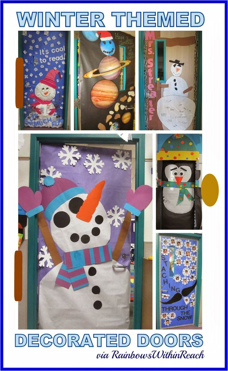 winter themed decorated classroom doors inspiration for education classroom door classroom doors