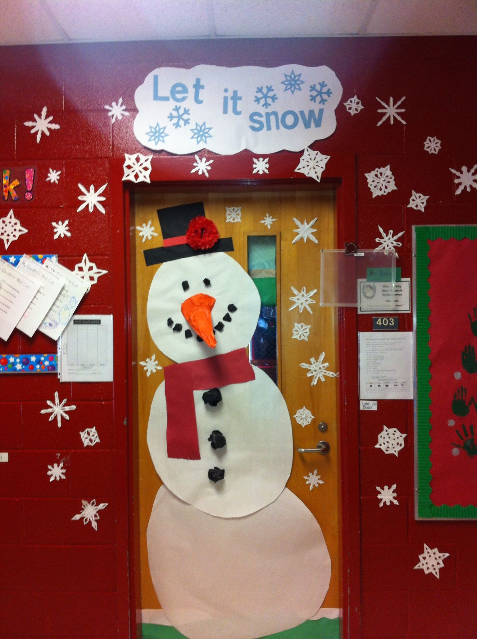 my kindergarten classroom door