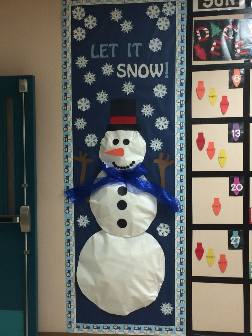 snowman bulletin board for school hall calendar