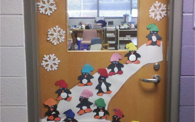 Winter Door Ideas for School Door Decoration Winter First Grade Pinterest Przedszkole