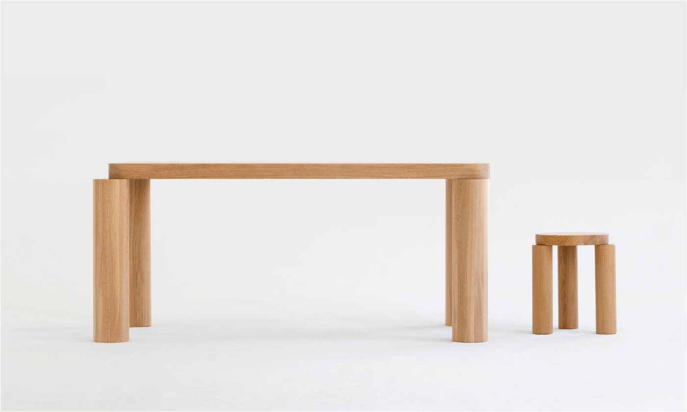 offset dining table by resident