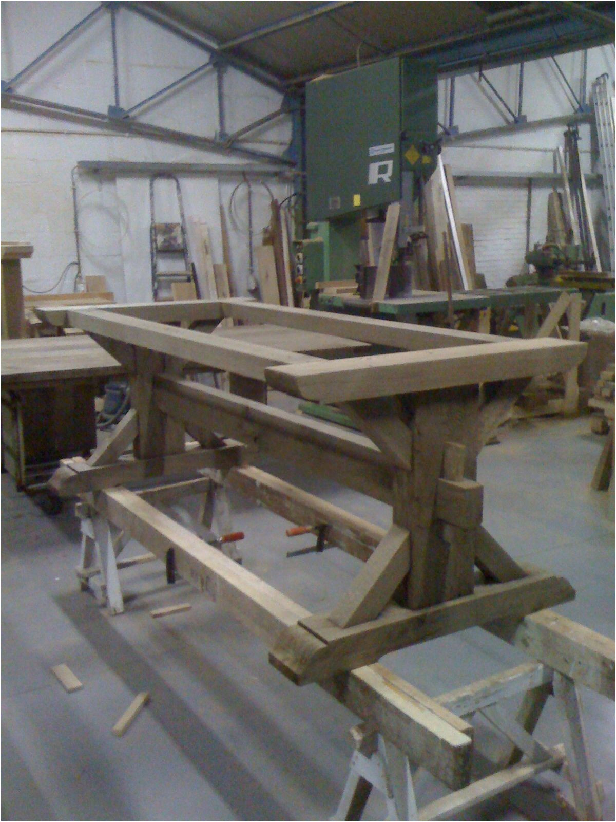 Wood Trestle Table Base Kits Nearly Done Piere Trestle Table Farm
