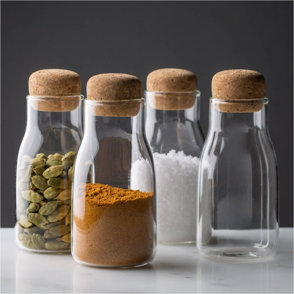 corky modern glass spice jars the reluctant trading experiment