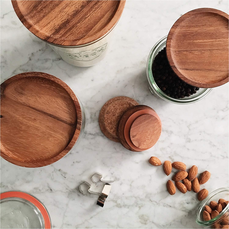 weck wood lid small 60mm fits models 080 755