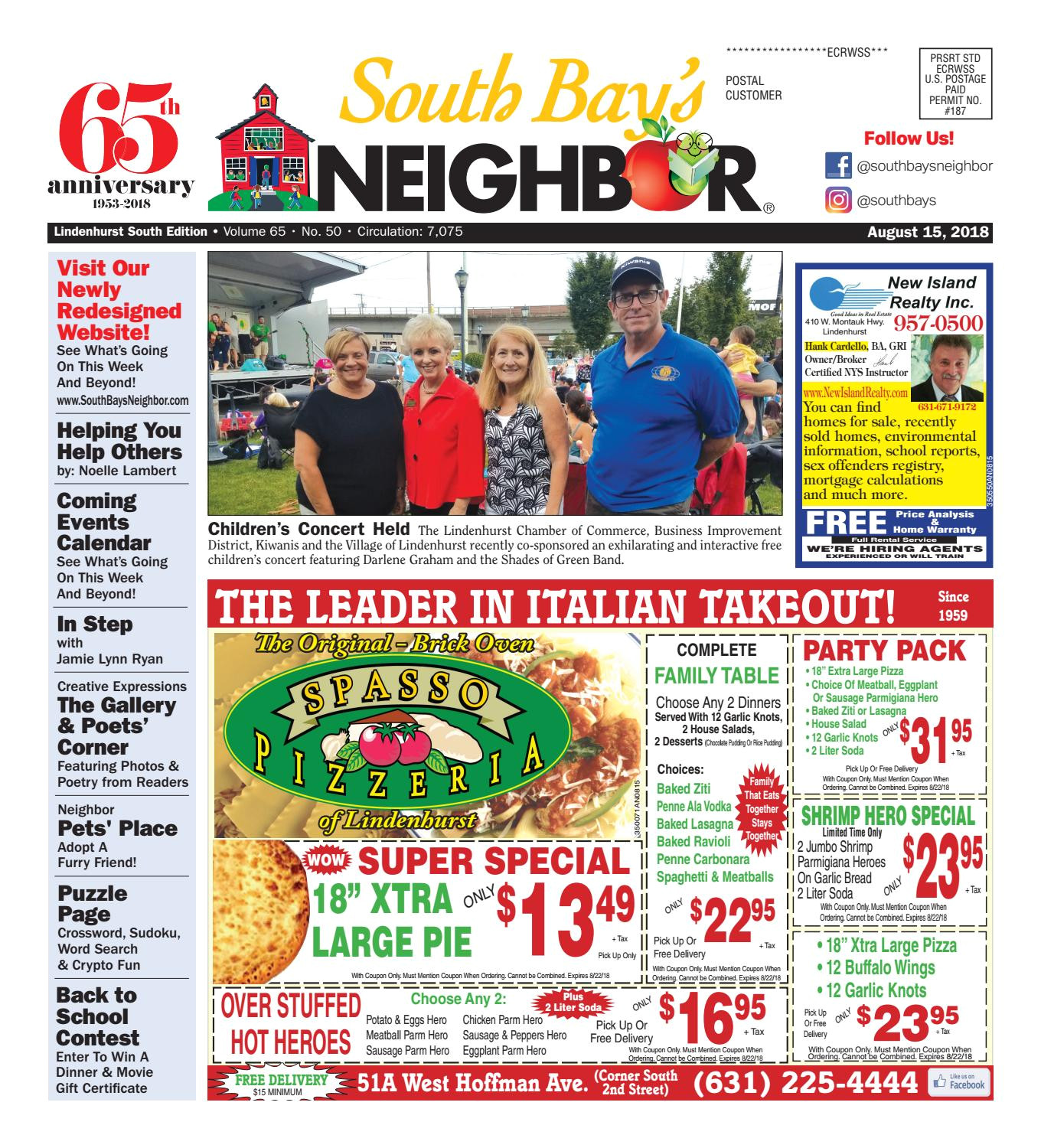 august 15th 2018 lindenhurst south by south bay s neighbor newspapers issuu