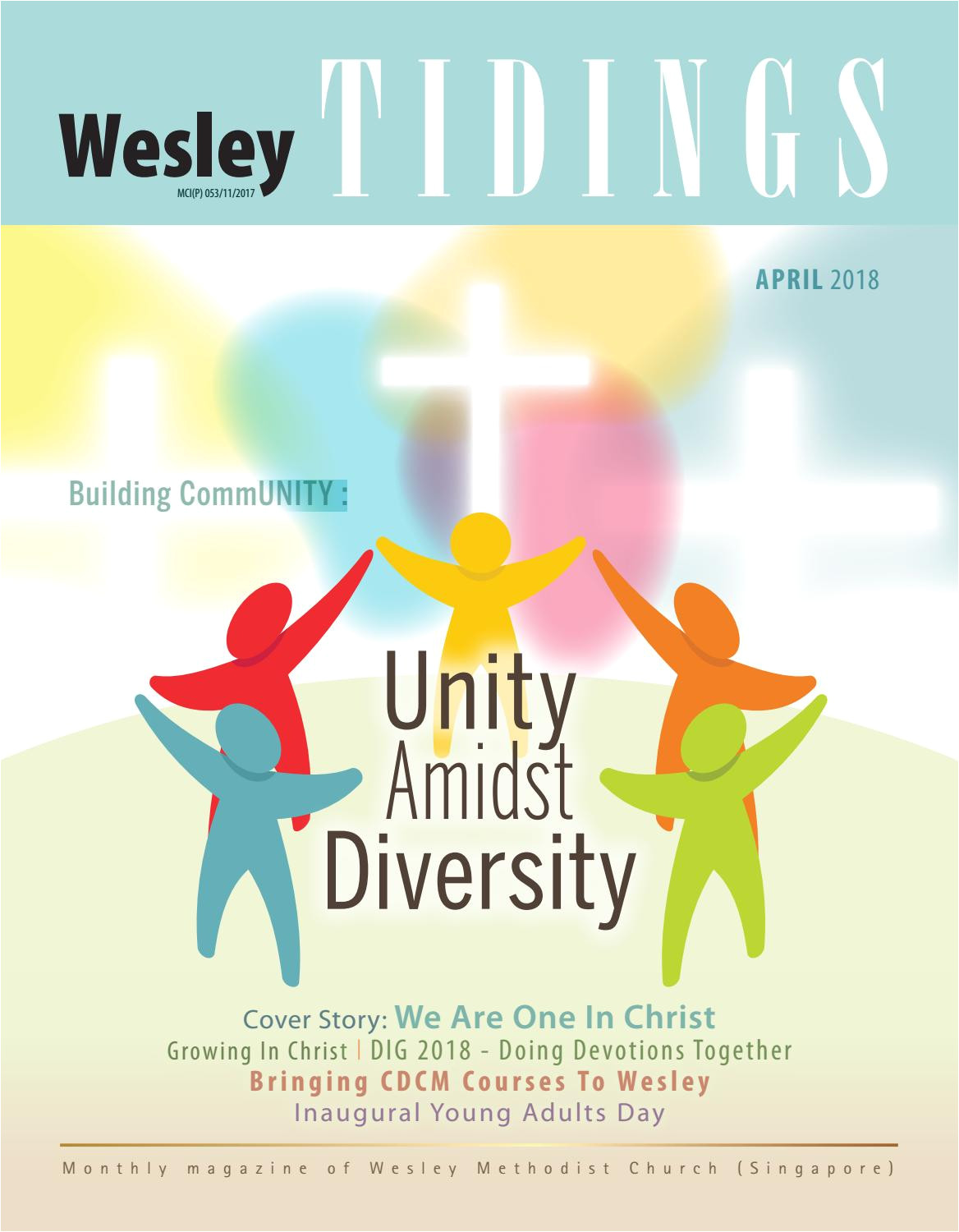 wesley tidings newsletter april 2018 by wesley methodist church singapore issuu