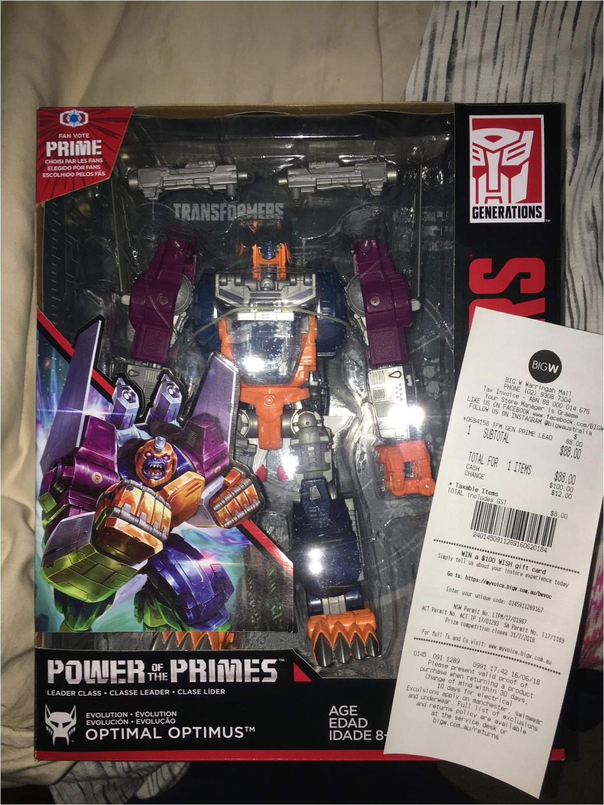 transformers power of the primes optimal optimus found at australian retail