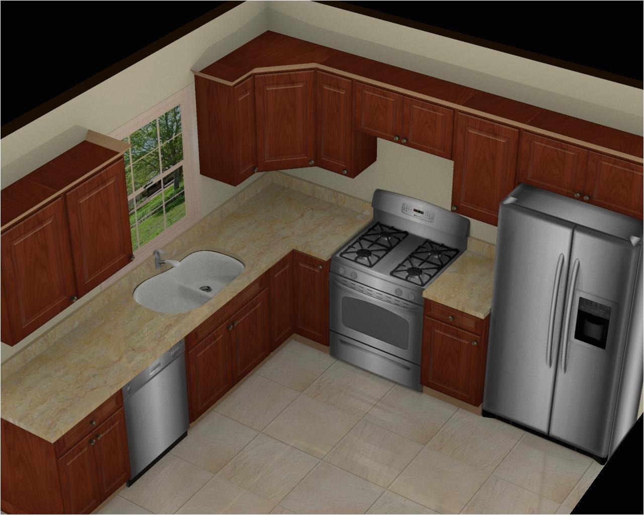 kitchen great 10x10 3d kitchen design with brown cabinet beige l