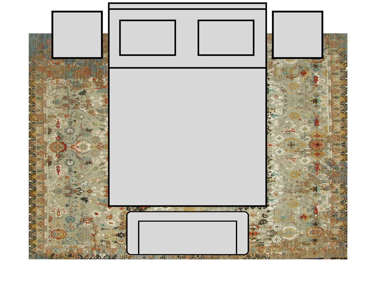 rug size fitting guide rug size for king