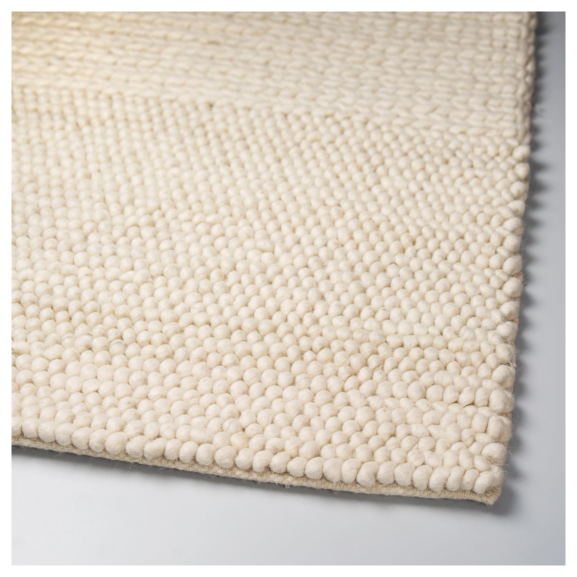 ikea ibsker rug off white handmade