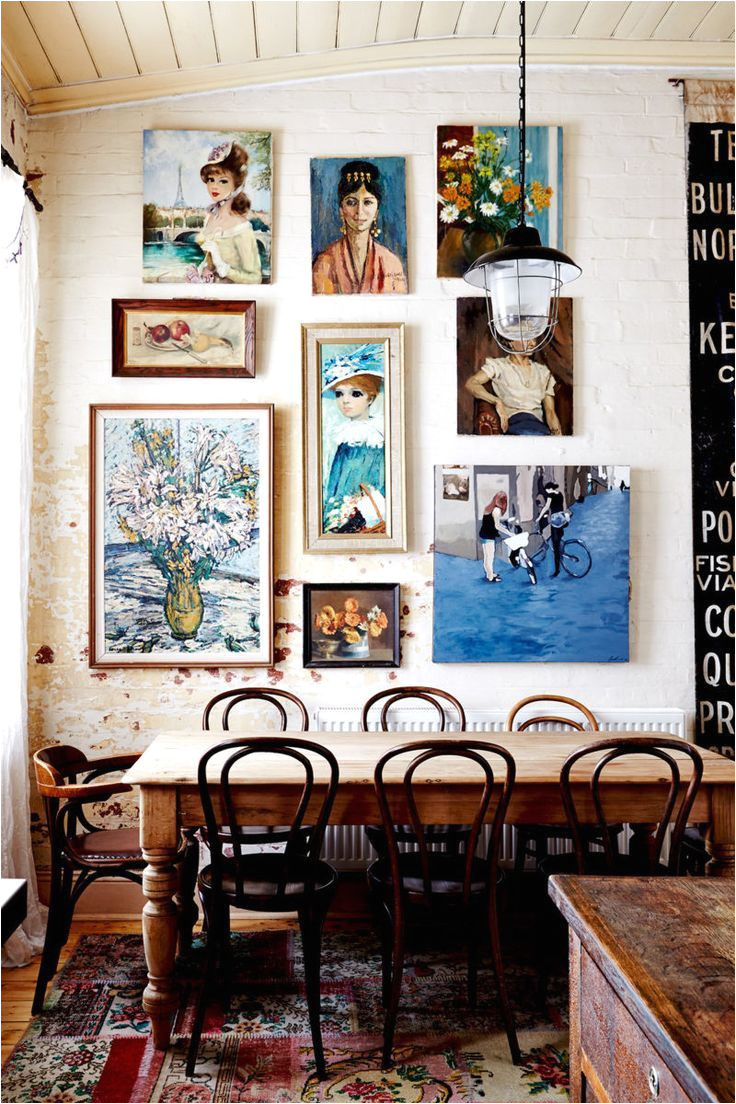 gallery wall in the dining room