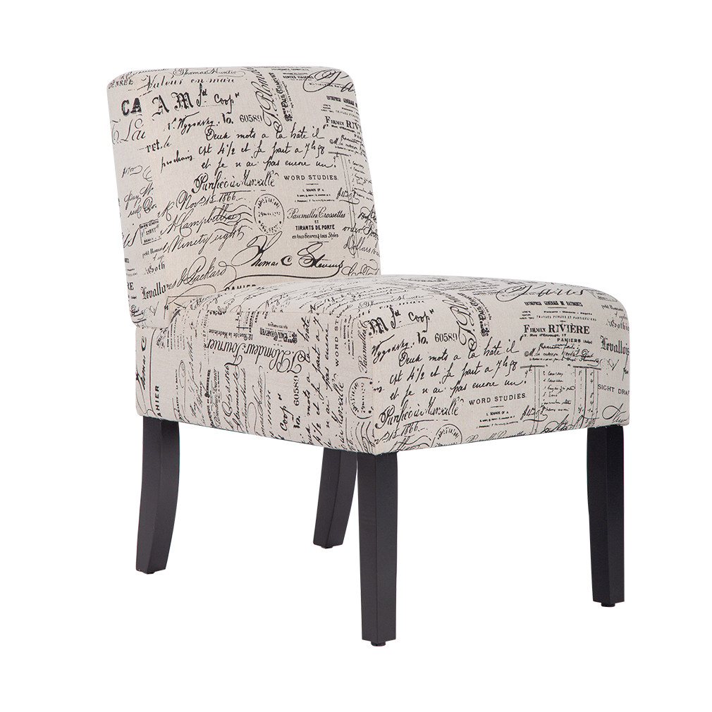 armless contemporary sofa accent chair upholstered club side fabric chairs for living room walmart com