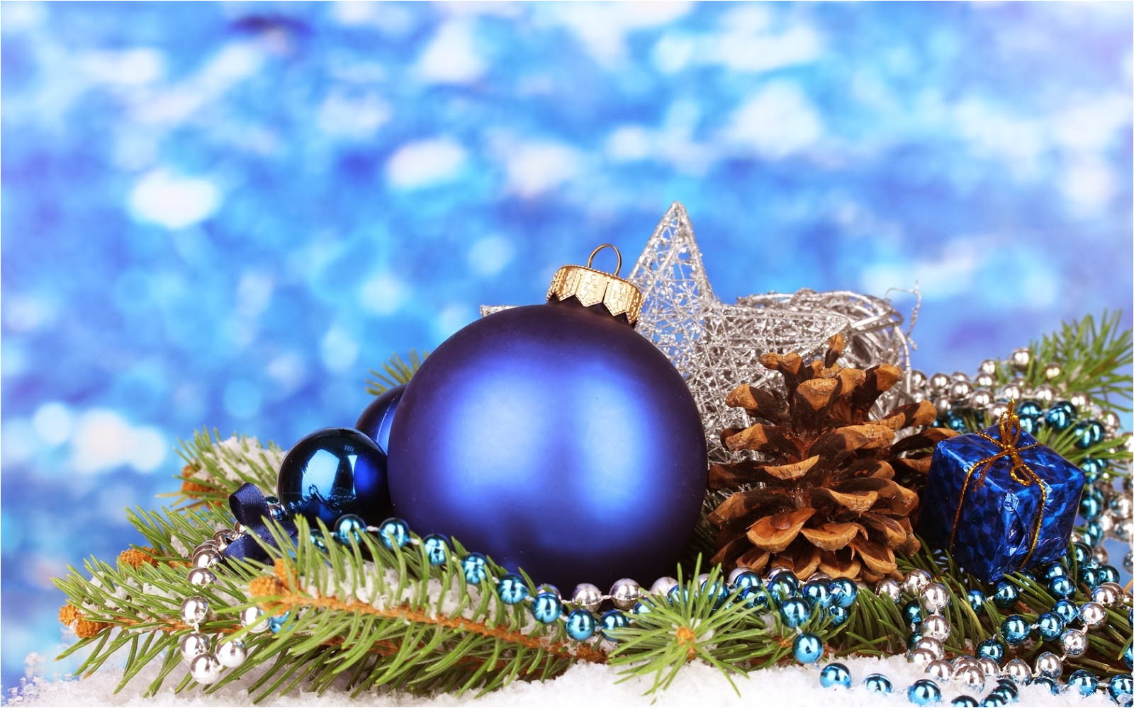 esfera azul para arbol navideno