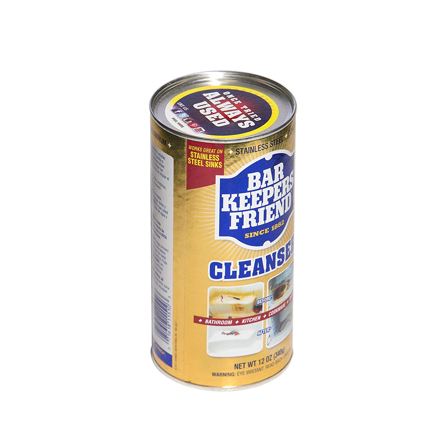 amazon com bar keepers friend powdered cleanser polish 12 ounces 1 pack health personal care