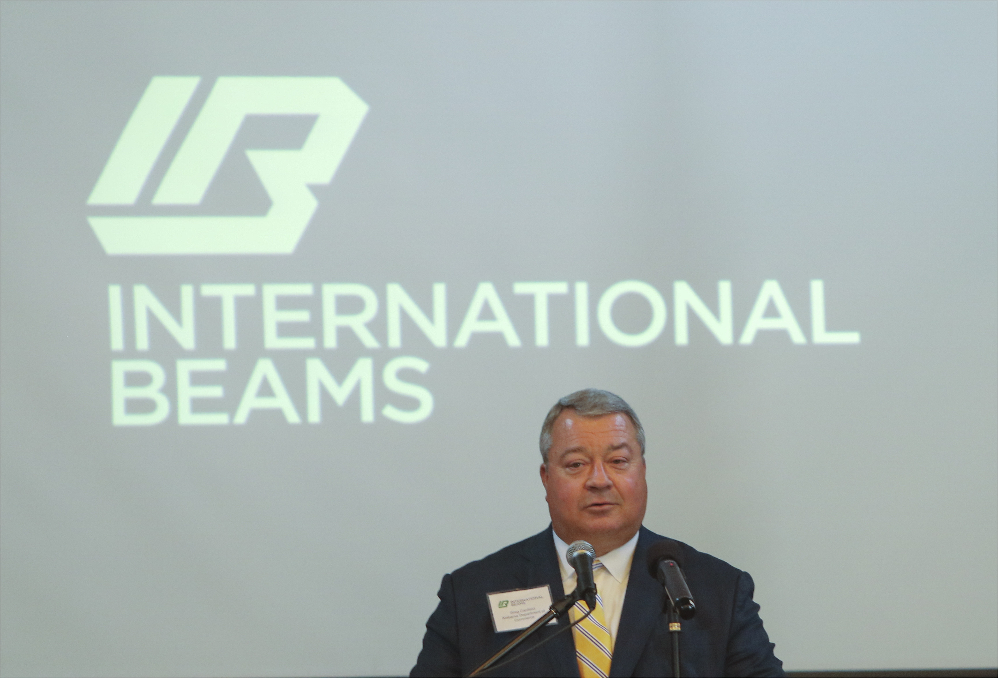 alabama commerce secretary greg canfield speaks at international beams announcement that it will invest 20 million in a manufacturing facility in dothan