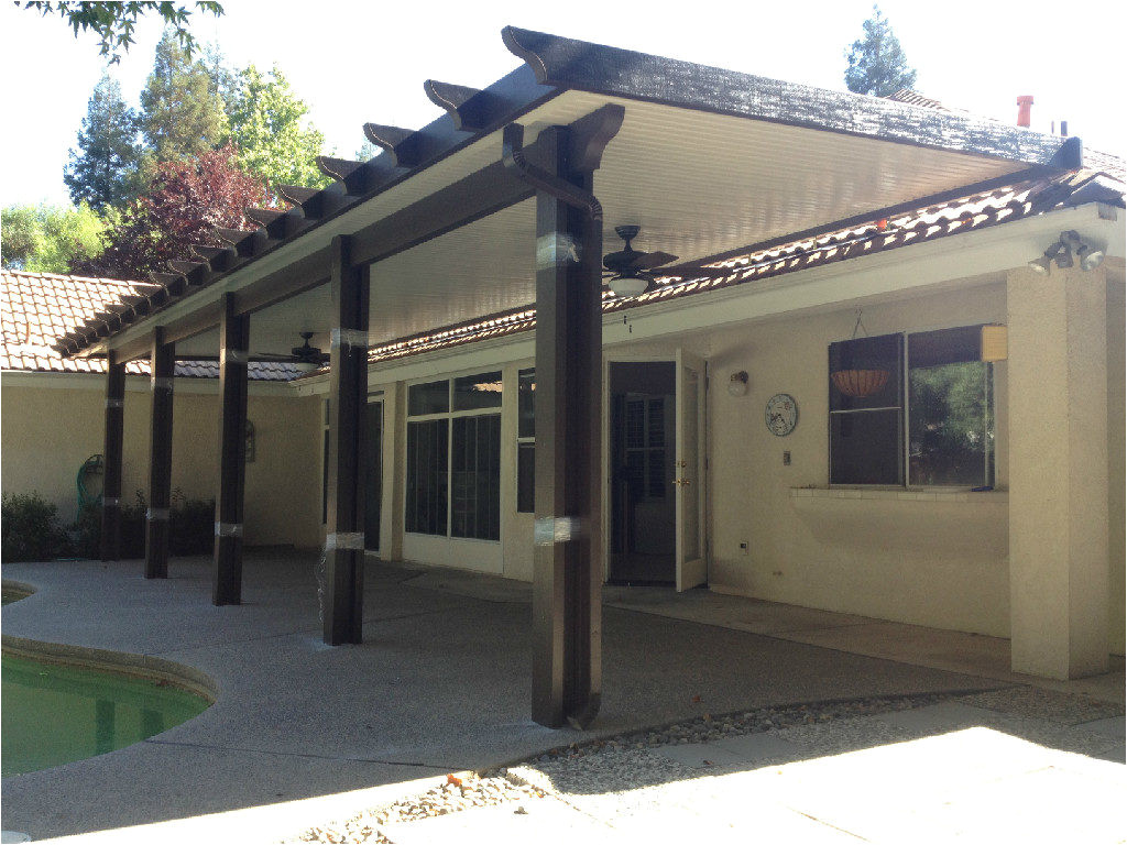 rafter tails style wood grained aluminum patio cover available in alumawood patio covers las vegas alumawood