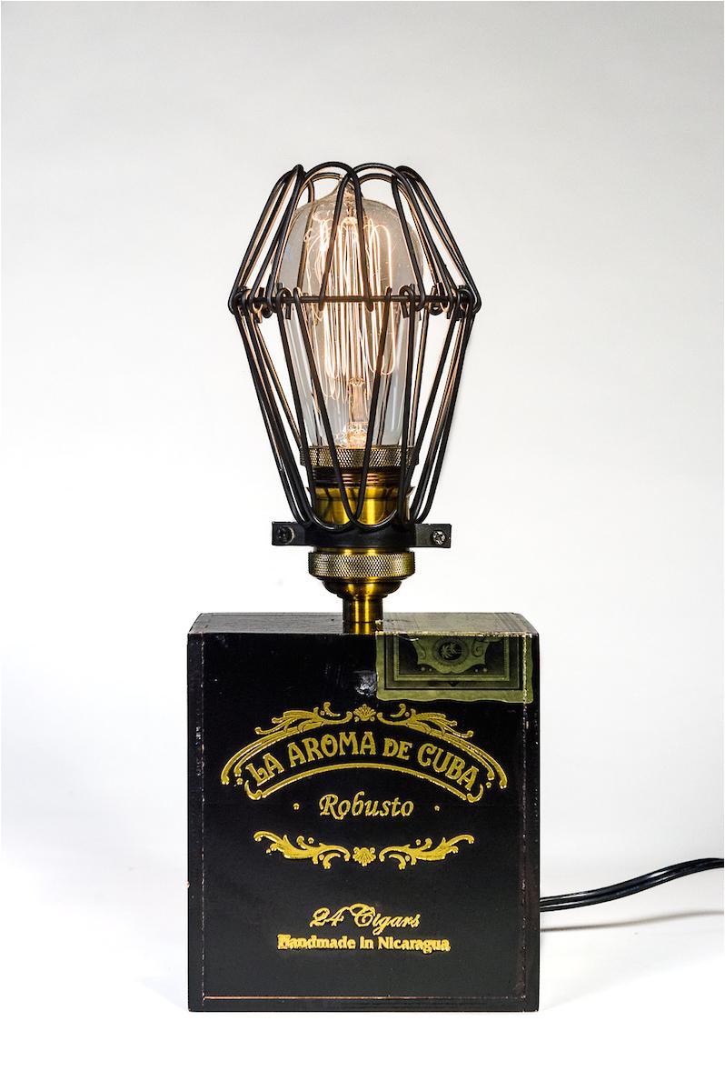 native launches bon vivant new orleans line of custom cigar box edison lamps