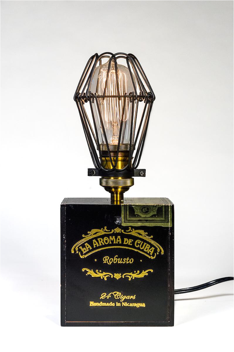 native launches bon vivant new orleans line of custom cigar box edison lamps