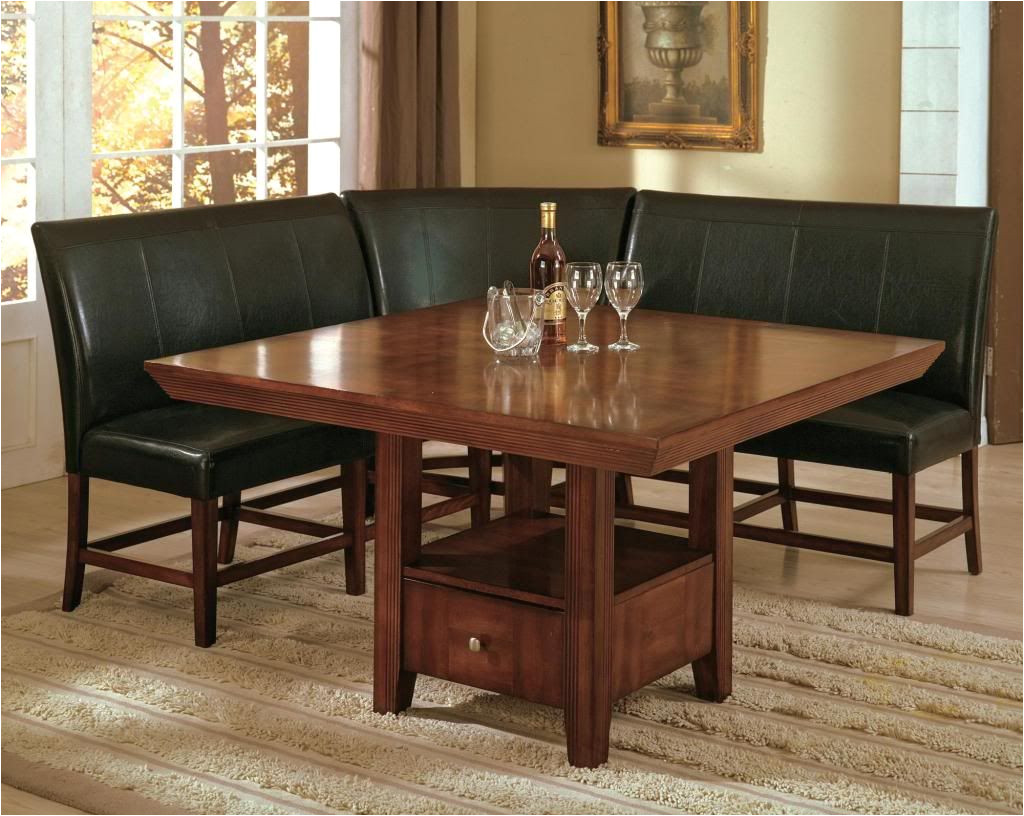 salem 4 piece breakfast nook dining room set table corner bench seating dinette ebay
