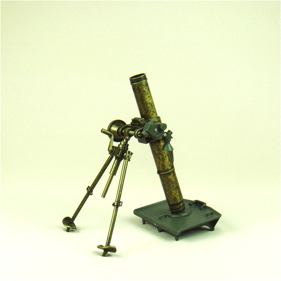 vintage iron mortar diecast replica model scaled plastic mine thrower miniature military weapon decor gift and craft ornament
