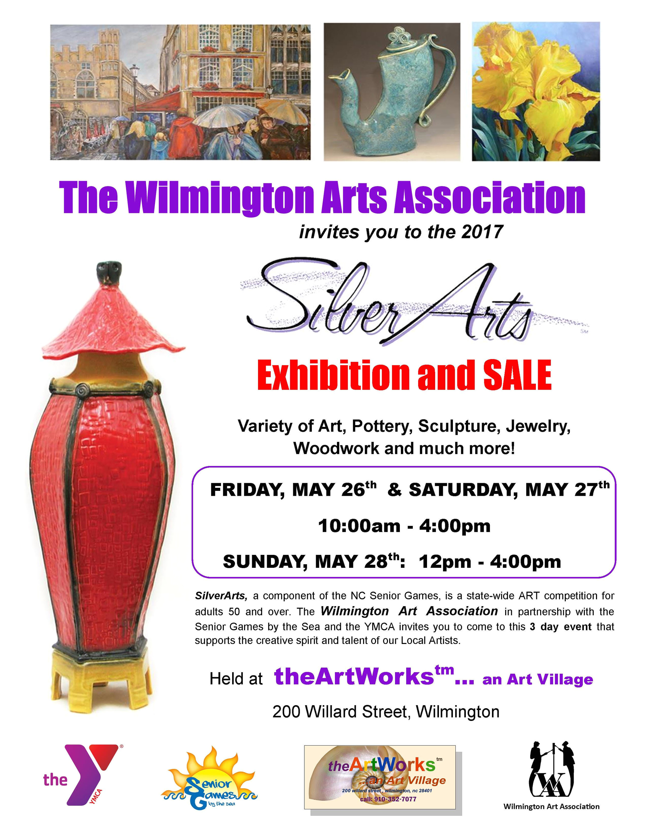 the 2017 silverarts competition will once again take place at theartworksa at 200 willard street wilmington nc theartworksa once housed the thriving block