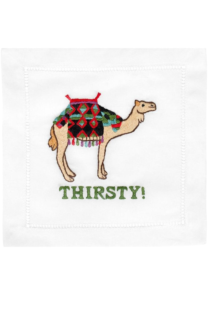 august morgan thirsty cocktail napkins