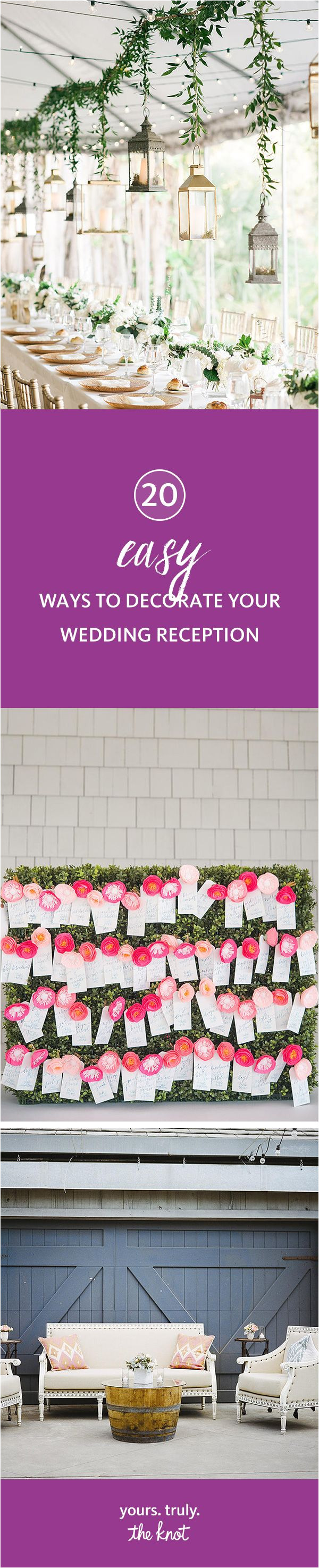 20 easy ways to decorate your wedding reception