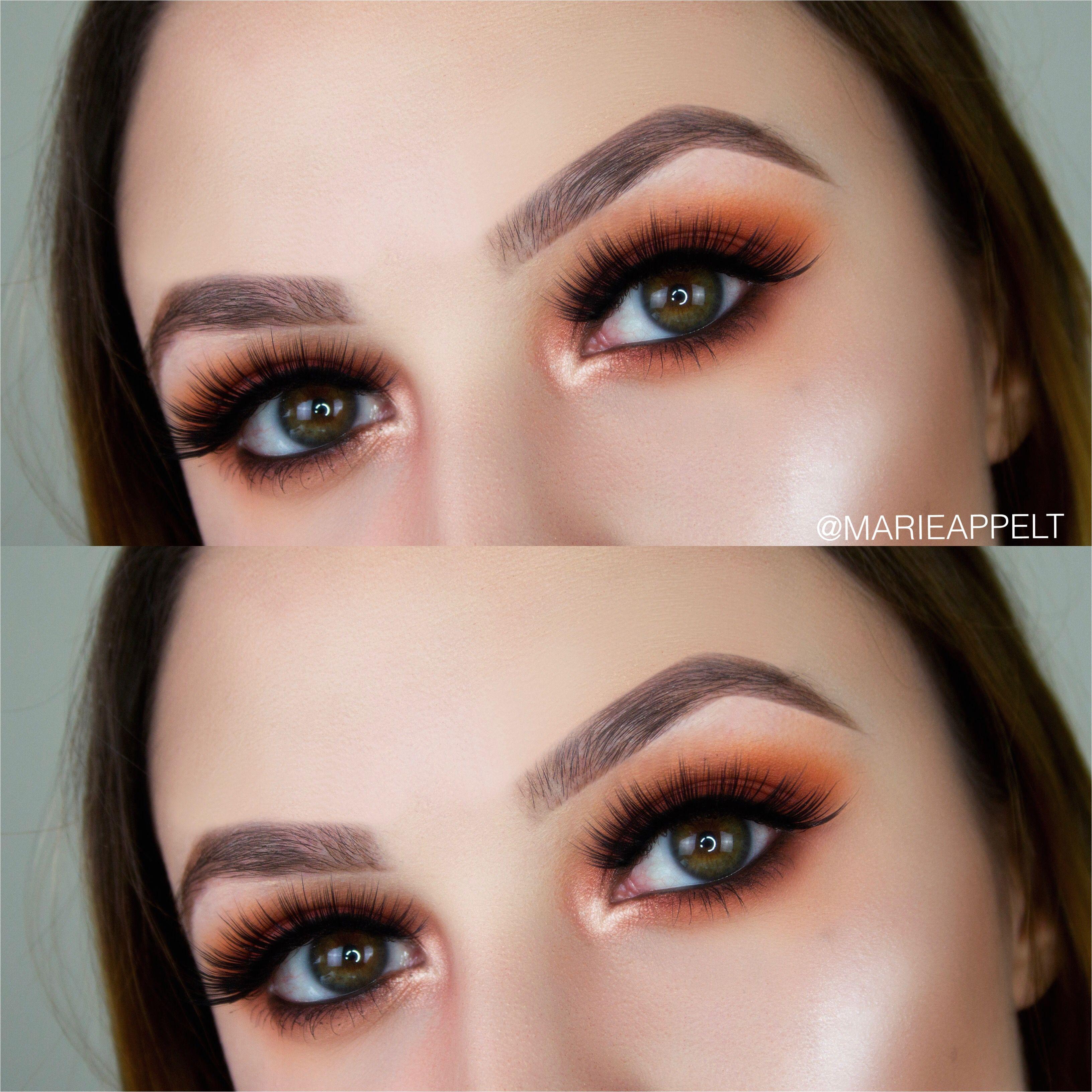 orange smokey eye makeup fall makeup orange makeup burned onrange makeup fall makeup fall makeup tutorial how to look makeup artist smokey eyes