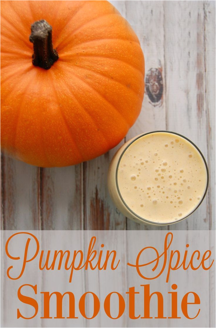 pumpkin spice smoothie this smoothie is a glass of fall loveliness that you must try