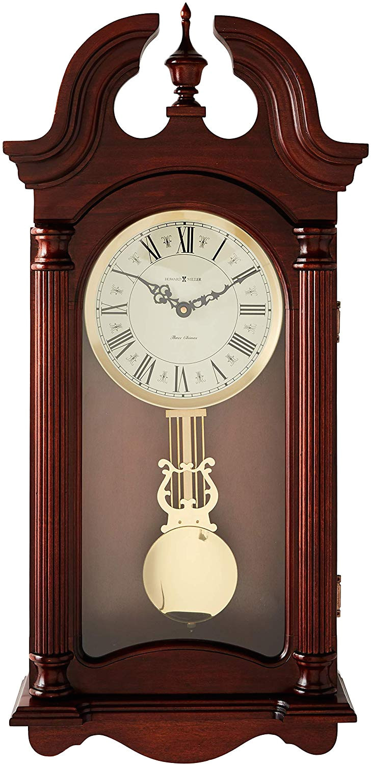 Battery Operated Clock Movements with Pendulum and Chime Amazon Com Howard Miller 625 253 Everett Wall Clock Home Kitchen
