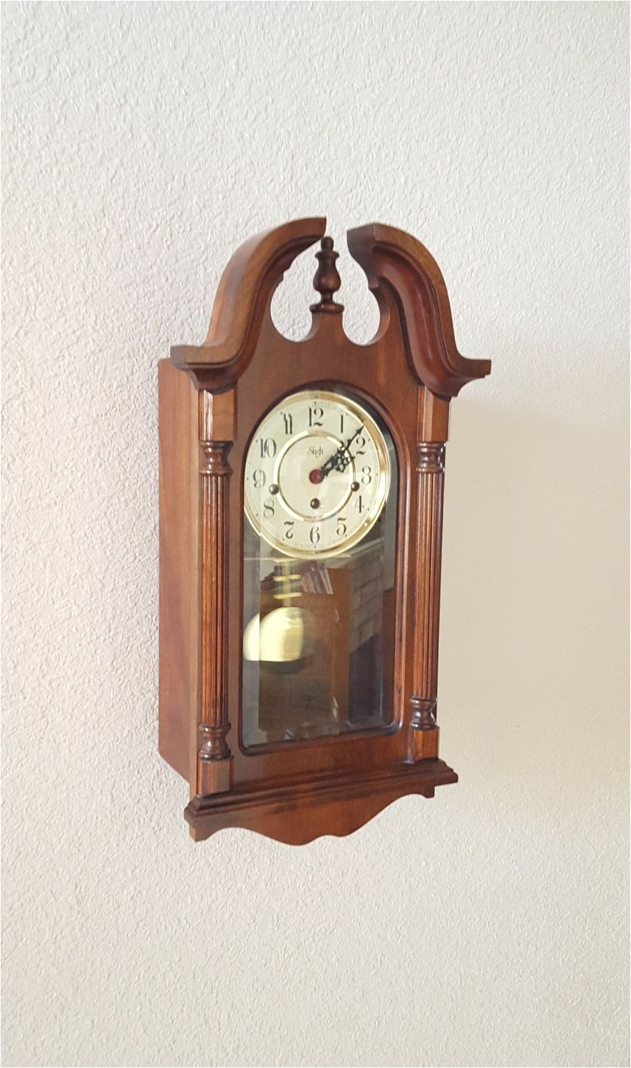 vintage antique sligh heirloom quality westminster chiming wall clock parlor clock professionally restored with warranty by theclockguys on etsy
