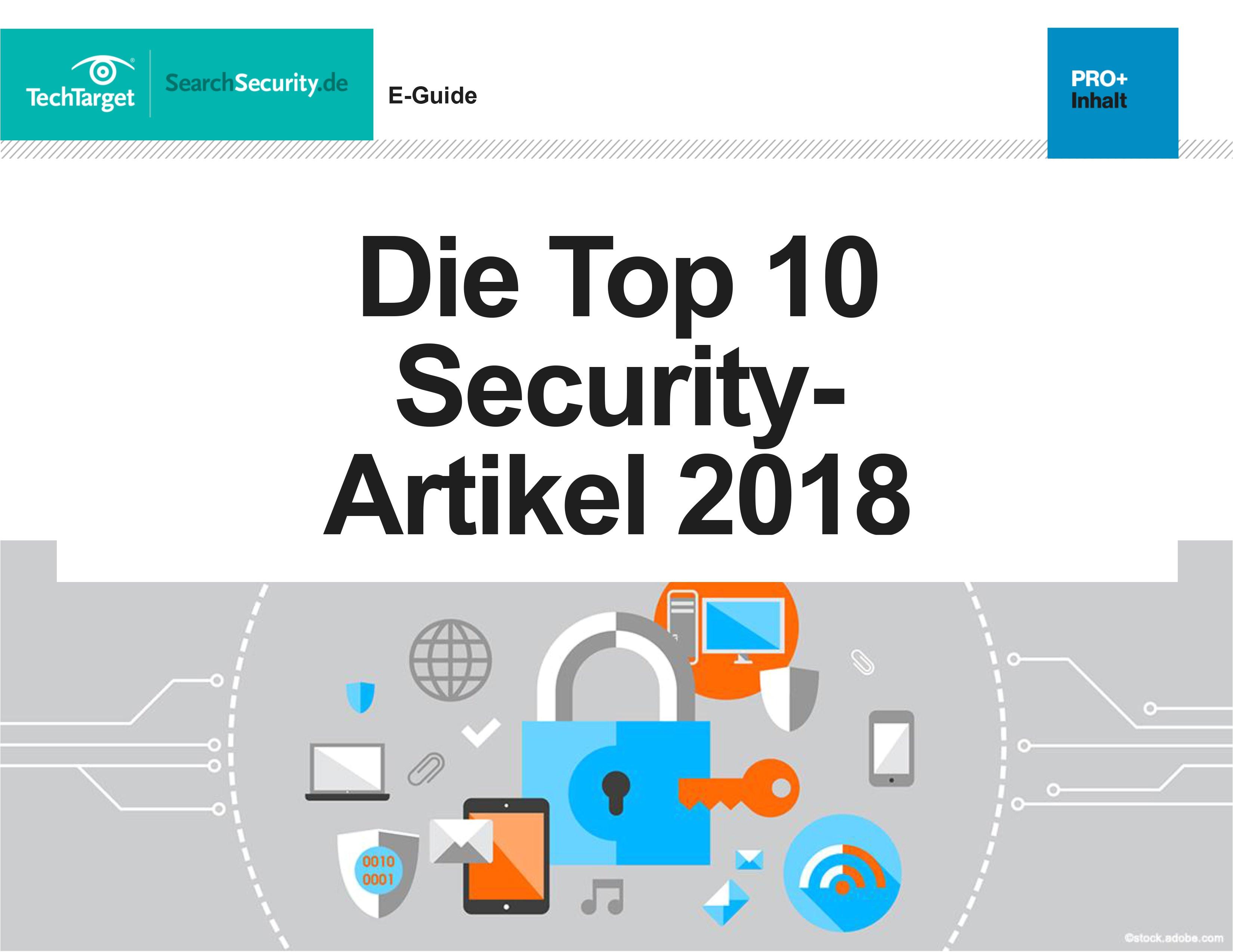 die top 10 security artikel 2018