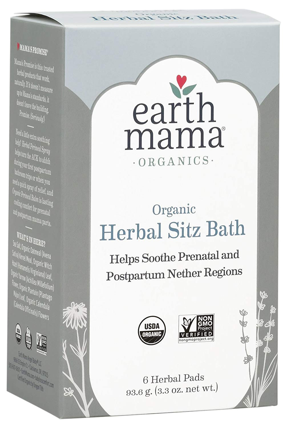 amazon com earth mama organic herbal sitz bath for pregnancy and postpartum 6 count beauty